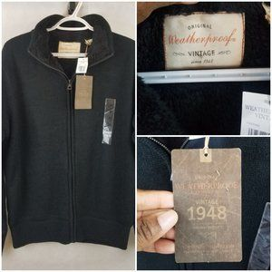Vintage 1948 Weatherproof Sherpa Sweater Jacket, M